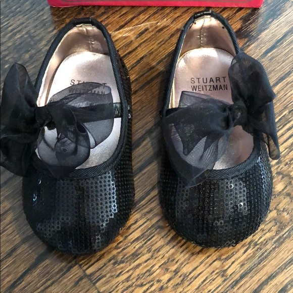 Stuart Weitzman Other - Stuart Weizman infant black sequin shoes
